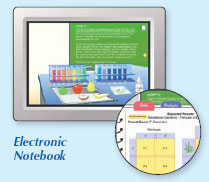 Example of part of an electronic notebook
