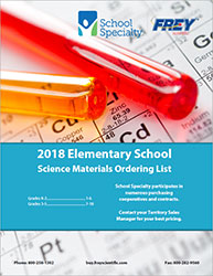 Cover to 2018 Frey Elementary Lab Supply List