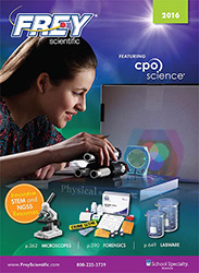 Cover to Frey Scientific 2016 Digital Catalog
