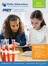 Cover to Delta Education/Frey Scientific 2017 Elementary Digital Catalog
